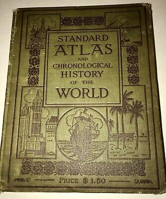 1912 Standard Atlas Chronological History Of The World 1910 Census Edition