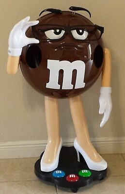M&M Ms Brown Character Store Display High Heels Glasses 3 Feet Tall New in Box