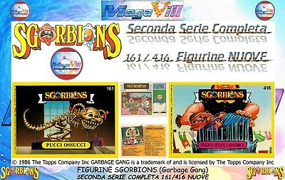 FIGURINE CARDS SGORBIONS 1986 The Topps Company GARBAGE GANG 161/416 COMPLETA