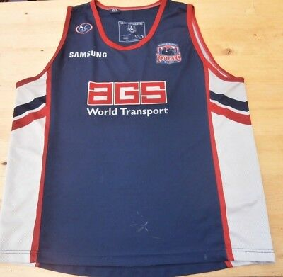 Sydney Roosters 100 Years Isc Rugby League Nrl Vest Shirt Top Large Adult