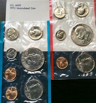 Outstanding 1973 Unc Us Mint Set - One Owner