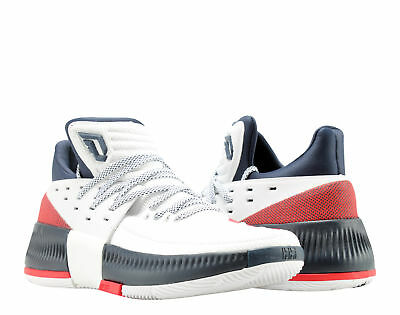 buy online 64c10 8df0e Adidas D Lillard 3 Dame 3 USA WhiteScarletNavy Mens Basketball Shoes  BY3762
