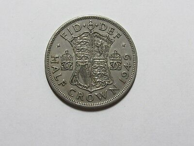 Old Great Britain Coin - 1949 Half Crown Halfcrown - Circulated