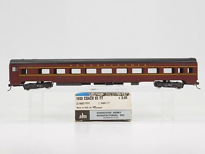 HO Scale ahm Rivarossi RTR 6423 PRR Pennsylvania Smooth Side Coach Passenger No#