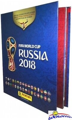 2018 Panini FIFA World Cup Russia Stickers HARD COVER Collectors Album-80 Pages!