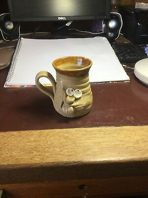 ugly mug pottery slight repair low price reflects this very collectible piece