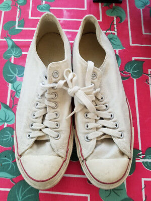 VTG 60s/70s Converse Chuck Taylor All Star Shoes Sneakers Blue Label Sz 8.5 USA