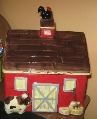 """Barn Cookie Jar """"China"""" In GREAT condition. Really cute!!!"""