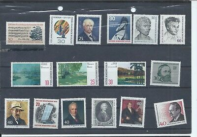 Berlin - West Germany stamps.  1971 to 1974 MNH lot  (B282)