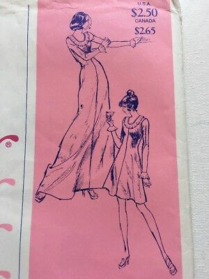 1525 Ann Person Sewing Pattern Party Dress UNCUT Stretch & Sew Vintage 1970s