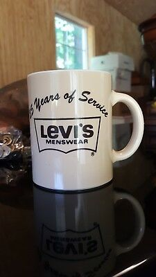 VTG 1985 LEVI STRAUSS & CO  Coffee Mug/Cup 25 Years of Service Blackstone Va