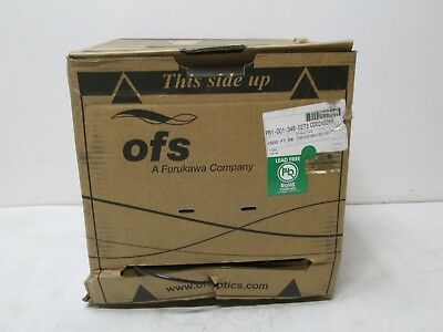 OFS EZ-Bend Ruggedized Fiber Optic Cable Spool IO48-001D-DRK-4-WPVC-RIB 1500'