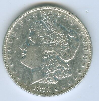 1878-P Reverse Of 1878 7 Tail Featheers Morgan Silver Dollar--Xf/au