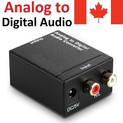 Digital Optical Coax to Analog RCA L/R Audio Adapter Converter 3.5mm Jack Cable
