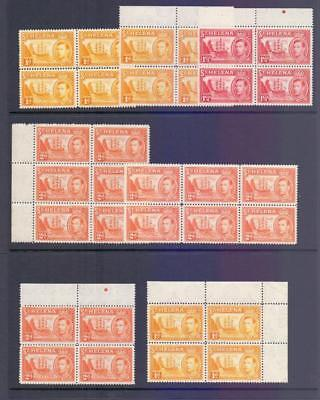 ST.HELENA - A Fine MNH Collection of KGVI Values in Blocks Attractive Lot