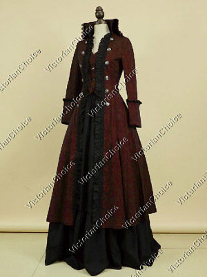 Victorian Edwardian Penny Dreadful Steampunk Gothic Theater Dress Gown N 176 XL