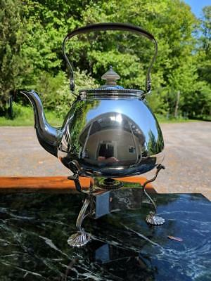 Kettle On Stand  SOLID STERLING SILVER LONDON 1906 Townley & Thomas