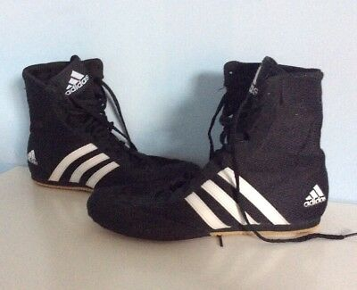 Adidas Box Hog 2 Black/white Boxing Boots Size Uk 5.5 New