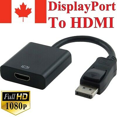 Displayport Male to HDMI Female Video Cable Cord Converter Adapter 1080P For TV