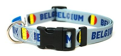 Belgium Belgian World Cup Soccer Dog Collar for Small Medium Large Dogs