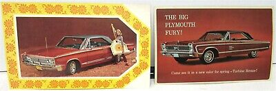 NOS Mopar 1966 Chrysler & Plymouth Post Cards Newport Sport Fury Turbine Bronze