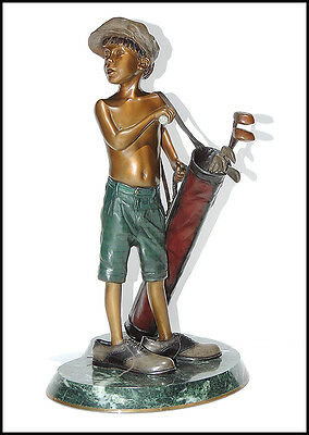 Ramon Parmenter Bronze Sculpture Signed Original Artwork Boy Child Authentic SBO