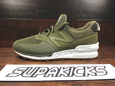 promo code e9912 59449 NEW BALANCE MS574EMO KNIT 574 (Military Green Olive / Gum) FRESH FOAM Mens  8-12
