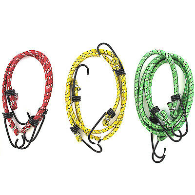 """6 PIECE ASSORTED RUBBER BUNGEE CORD STRAPS 24"""" 18"""" 12"""" Elastic Tarp Tie Down"""