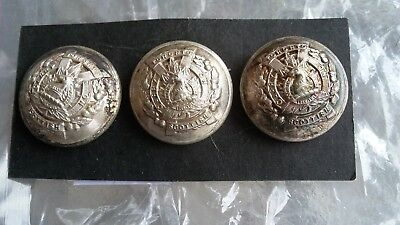 Toronto Scottish  3 Silvered Buttons   Officers