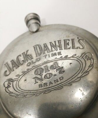 Jack Daniels Old No.7 Whiskey Flask Sheffield England English Pewter Vintage