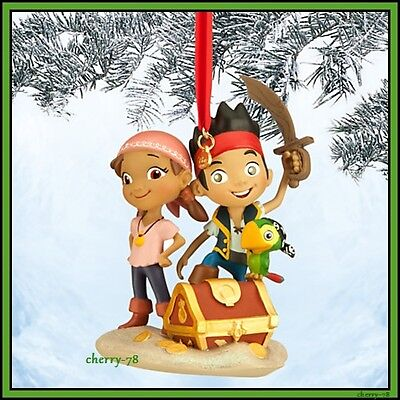 Disney Store Jake And The Never land Pirates Sketchbook Ornament Skully Izzy NIB