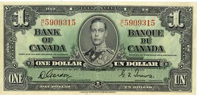 Canada $1 Currency Banknote 1937 XF