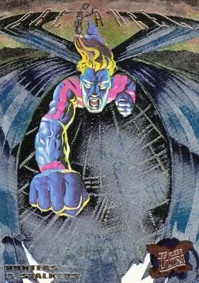 X-Men 1995 Fleer Ultra Hunters & Stalkers Foil Insert Card 9 Of 9 Archangel Ma