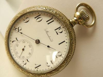 STANDARD NY 18s OF POCKETWATCH WORKING Ivy Vine HIGH RELIEF Ornate Excellent