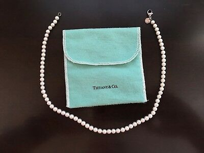 Tiffany & Co. Pearl Necklace w/Sterling Clasp