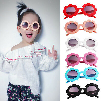 Cute Baby Boy Girl Round Goggles Toddler Infant Soft Plastic UV400 Sunglasses