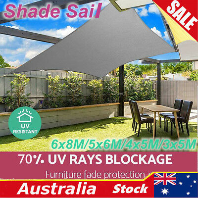 SPZ Waterproof Oxford Sun Shade Sail Cloth Shadecloth Outdoor Canopy Rectangle