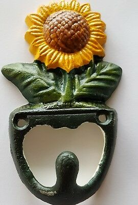 Sun flower coat hook cast iron  NEW