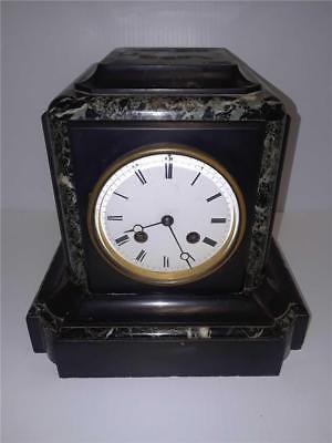 Antique Marble German on French P.L. Clock Movement Mantle Clock