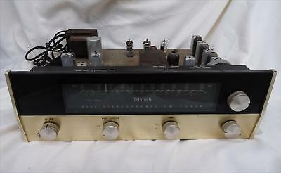 McIntosh MR67 Stereo Tube FM Tuner FOR PARTS/REPAIR Powers Up Audiophile VTG 60s