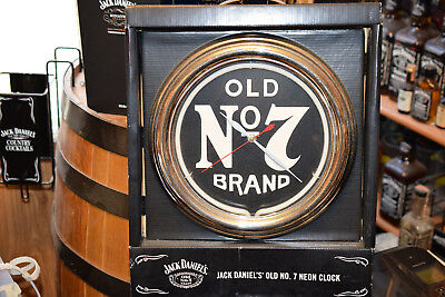 Jack Daniels Old No. 7 Neon Clock