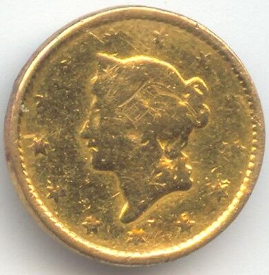 1849 Gold Dollar, Type 1, Open Wreath, Fine Details, True Auction, No Reserve