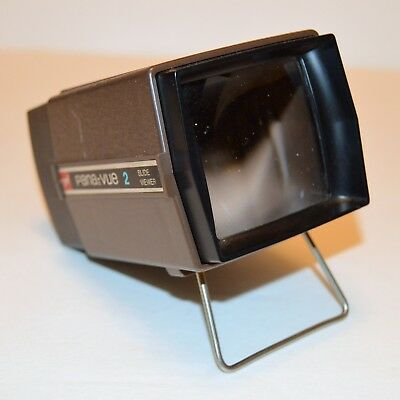 Vtg Gaf Pana-Vue 2 Illuminated 2x2 Slide Viewer Magnification USA Made