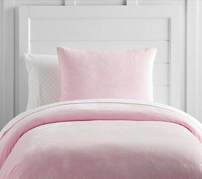 NWT POTTERY BARN KIDS Luxe Chamois Toddler Pillow Sham - PINK