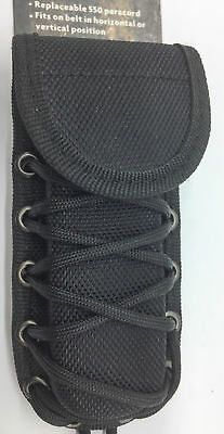 Combat Ready Belt Sheath Knife/Multi-Tool Folder Black Nylon Braided Paracord