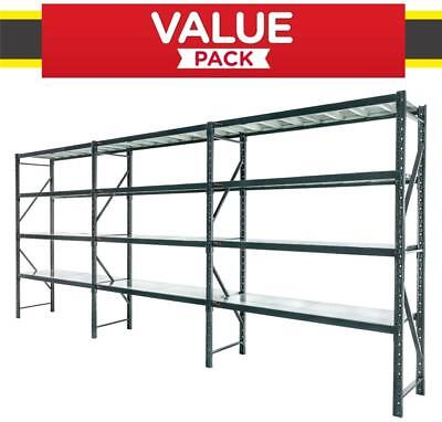 Warehouse Garage Shelving Racking 6m*2m*0.5m Metal Shelves MELBOURNE Delivery