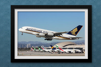 Singapore Airlines Airbus A380 print 8x12 HD Quality