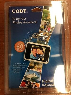 "NWT Coby DP-151 1.5"" LCD Digital Picture Keychain Holds 60 Photos New!"