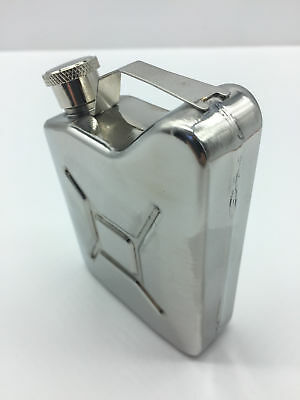 Stainless Steel 150ml / 5oz Hip Flask - Liquor Gas Jerry Can Jeep FJ40 FREE POST
