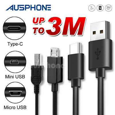 Micro USB Type C Sync Data Charger Mini Cable For Samsung S9 S8 S7 Note 9 GoPro6